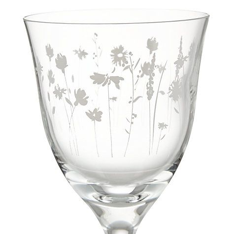Buy John Lewis Leckford Floral White Wine Glass Online at johnlewis.com