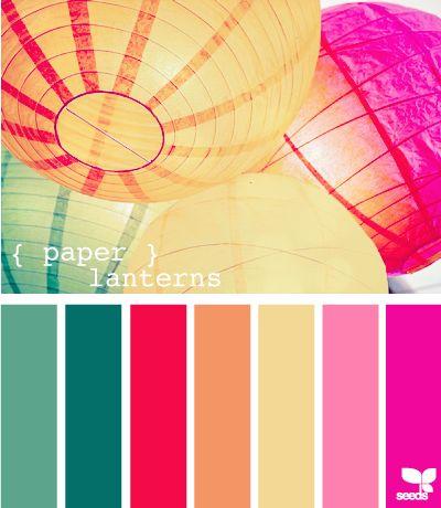 paper lanternsIdeas, Colors Combos, Design Seeds, Paper Lanterns, Colors Palettes, Colors Schemes, Colours, Color, Colors Inspiration