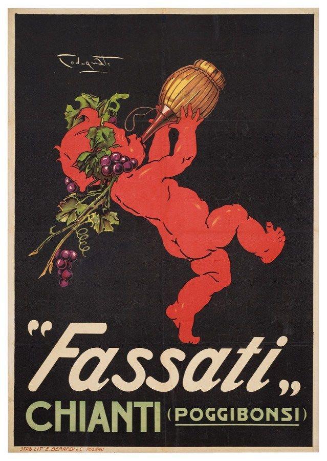 Chianti Fassati, Poggibonsi - Siena #posters #vintage www.posterimage.it #italy