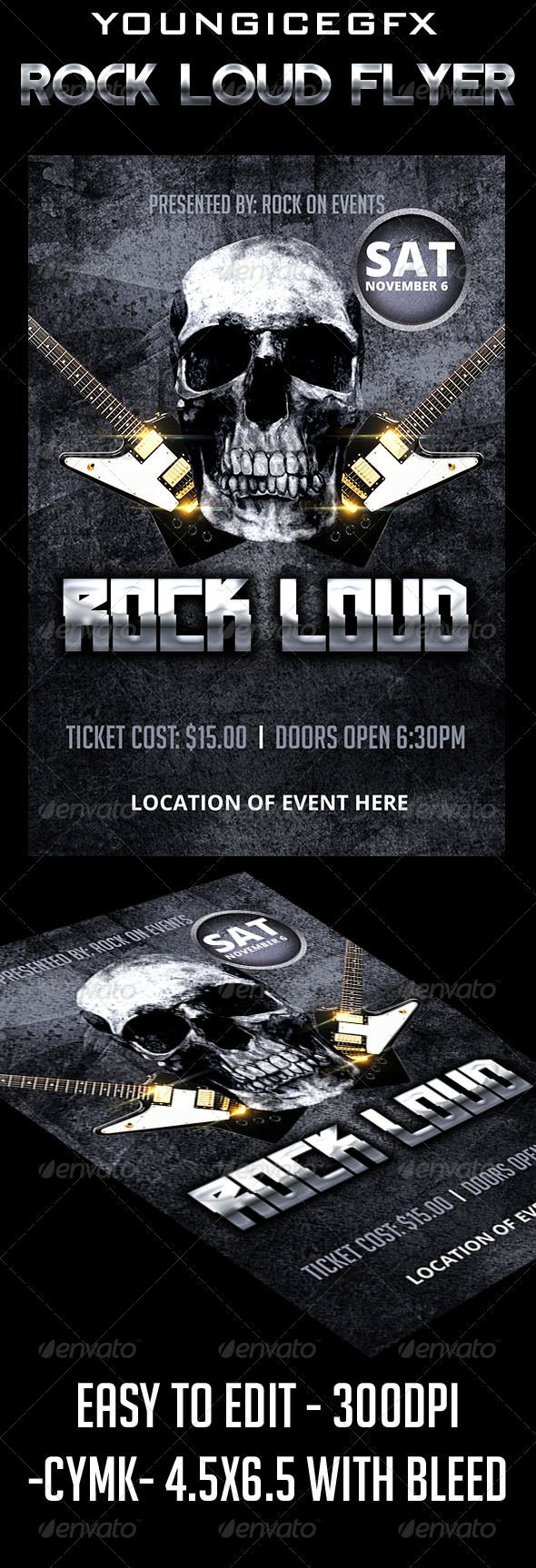 78 Best images about Print Templates – Mayhem Flyer Template