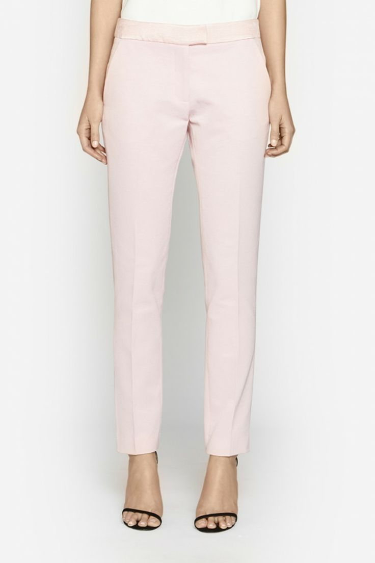 Camilla and Marc | MOTLEY PANT  US$364.57 Tailored pant designed in a pink fine rib with contrasting ribbed detailing. This classic piece features a waistband with concealed zipper fastening plus slit-style pockets at the back.