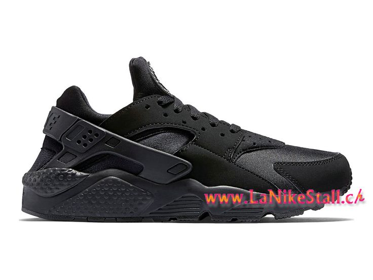 Nike Air Huarache Run Officiel Basket Pas Cher Chaussures Pour Homme Noir 318429-003