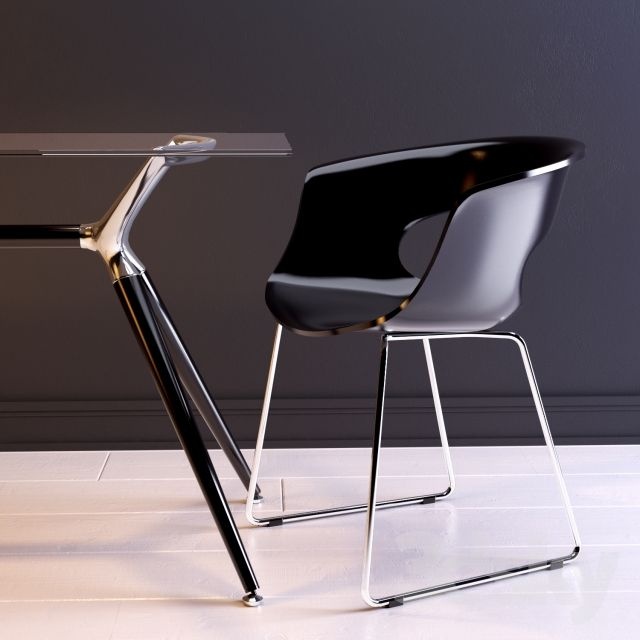 Miss B Chair Sled - Black - Scab Design