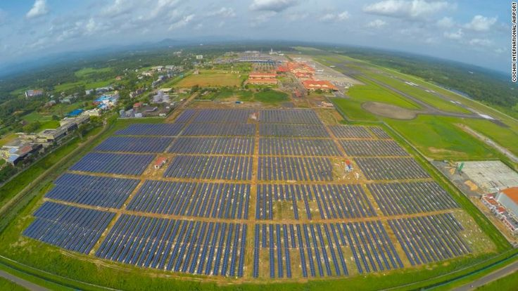 First Solar powered airport_Cochin International Airport in India last year became the first in the world to be fully powered by solar energy. Now, it's planning to expand its solar capacity.