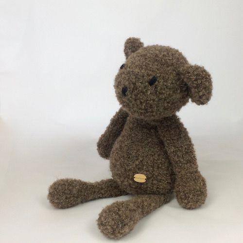 soft brown classic teddy bear - natural alpaca yarn - handmade at https://momonomo.com/produkt/brazowy-mis/