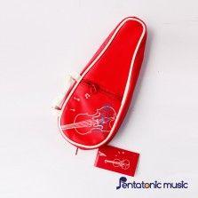 Violin Design Pouch - Red