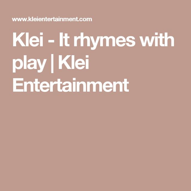 Klei - It rhymes with play | Klei Entertainment