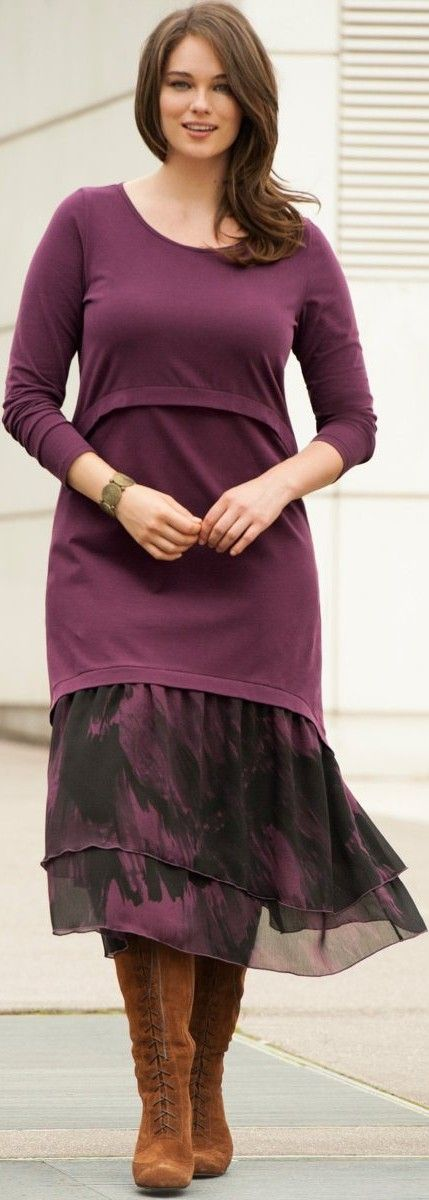 I love this cute, long-ish, midi dress in burgundy. It is a casual style, but you could dress it up for a cruise or a party. Read about plus size websites and brands at: http://www.boomerinas.com/2014/10/29/trendy-plus-size-clothing-stores-online-29-boutiques-designers-worldwide-with-us-delivery/