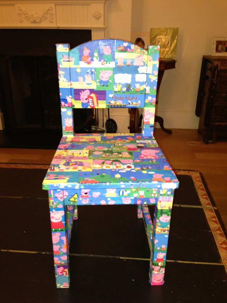 Decoupage Peppa Pig chair - £55 - this still needs to be varnished. I can do any character on any piece of furniture