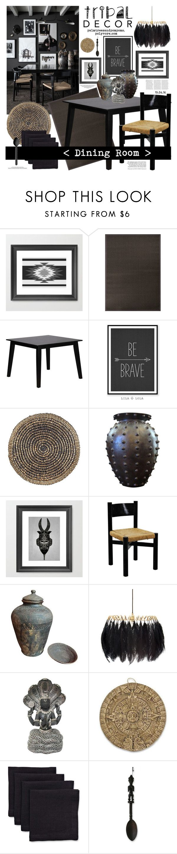 Home decor collage from january 2017 featuring currey company -  Tribal Decor By Palmtreesandpompoms Liked On Polyvore Featuring Interior Interiors Interior