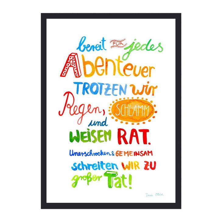 20 besten Prints mit schönen Worten von Frau Ottilie Bilder auf ...