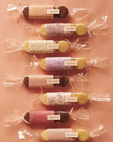 Freshly baked favors that are pretty and delicious.