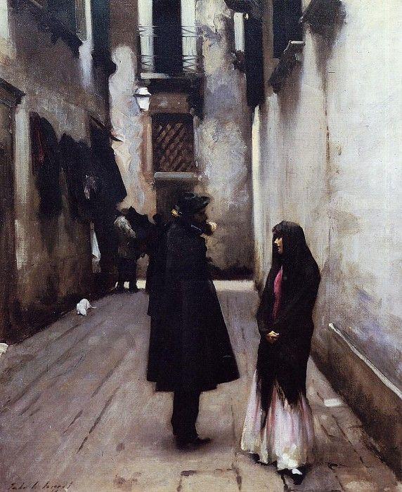 Venetian Street 1880-1882. Джон Сингер Сарджент