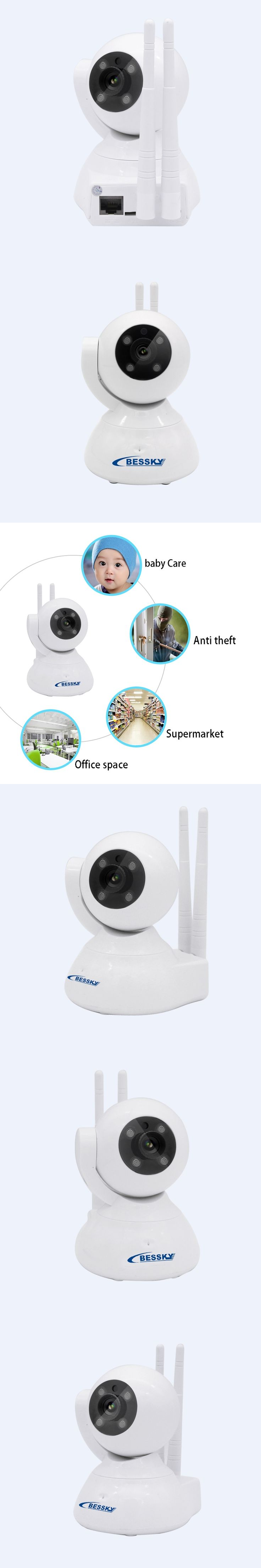 High Quality Onvif 720P IP Camera Wireless Wifi CCTV Camera HD Indoor Pan Tilt IR CUT Security Network CAM Support 128G SD Card