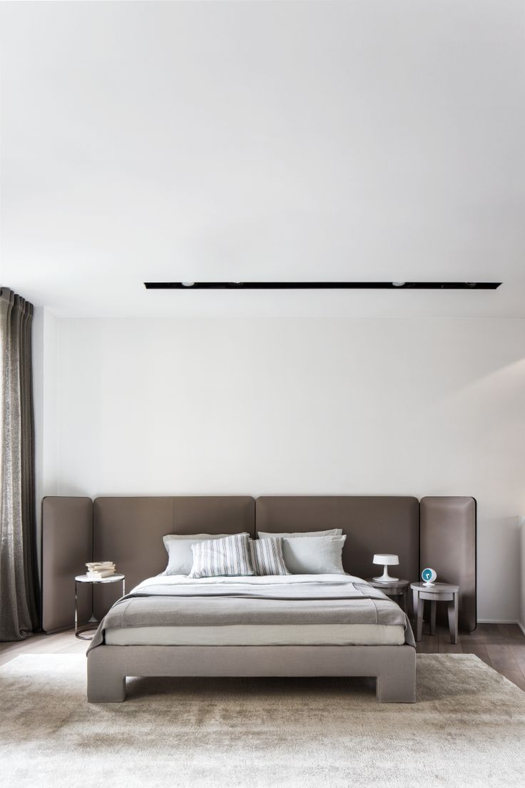 best furniture bed images on pinterest  bedroom designs bed  - meridiani i tuyo bed with saddle leather headboard and upholstered base ilow table i low tables i rug