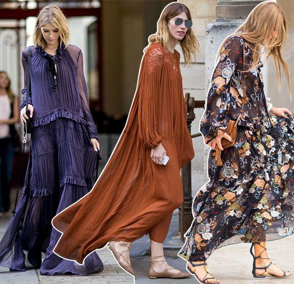 A peça já virou modinha há algumas temporadas, mas o vestido longo e esvoaçante pode ser uma das tendências passadas que são boas de guardar para usar em dias de festa diurna. ...
