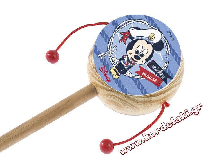 Ξύλινο τυμπανάκι Mickey mouse για να δημιουργήσετε μπομπονιέρες βάπτισης, διακοσμήσεις, δώρα πάρτυ ή οτιδήποτε έχετε φανταστεί.