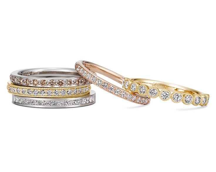 婚約指輪や結婚指輪として人気のエタニティリング。お手持ちのリングとの重ね着けもおすすめです。/ K.uno is a jewelry brand in Japan. We create bridal, fashion as well as custom made jewelry. ◆HP→http://www.k-uno.co.jp/ ◆MAIL→k-uno@k-uno.co.jp