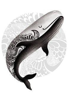 Рыба кит - татуировки - Коллекции