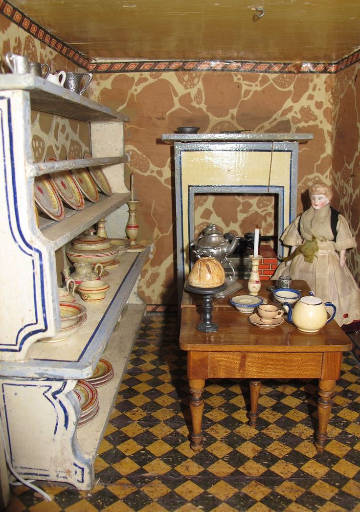 A Christian Hacker House  ca 1880 by Susan Hale   Dolls  Houses Past  62 best Miniature Treenware images on Pinterest   Miniatures  Doll  . Dolls House Interiors. Home Design Ideas