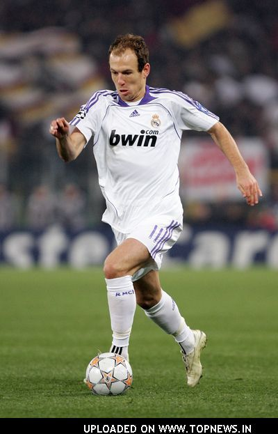 Arjen Robben au Real Madrid