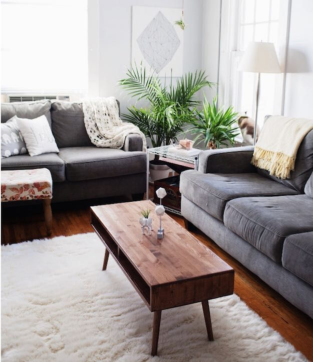 Retro Narrow Coffee Table | 15 Narrow Coffee Table Ideas For Small Spaces