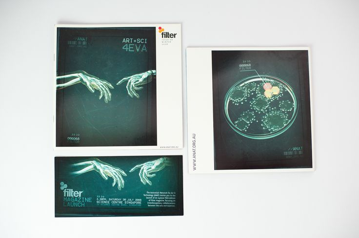 Filter Magazine, booklett, cover, art and science concept, ideas - Drawcard