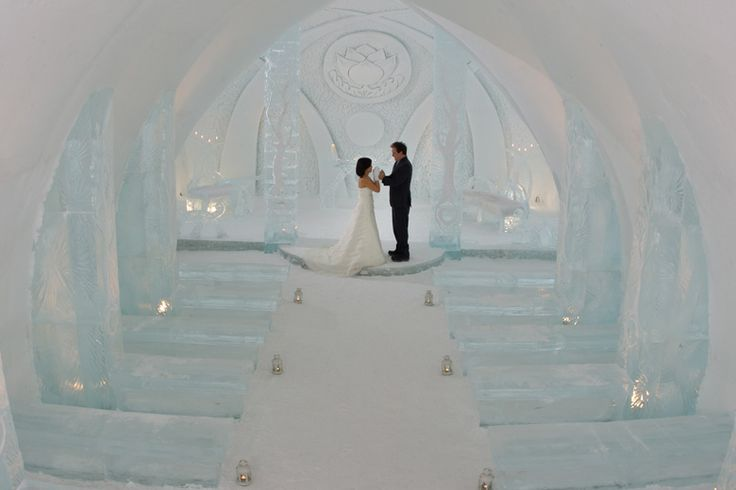 was almost my venue. Hotel de Glace. they make this hotel out of snow and ice every year, so it won't look exactly like this when my date comes around...but still.