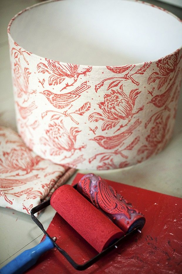 how to print your own lampshade #craft #lampshade #printing from Country Homes Magazine