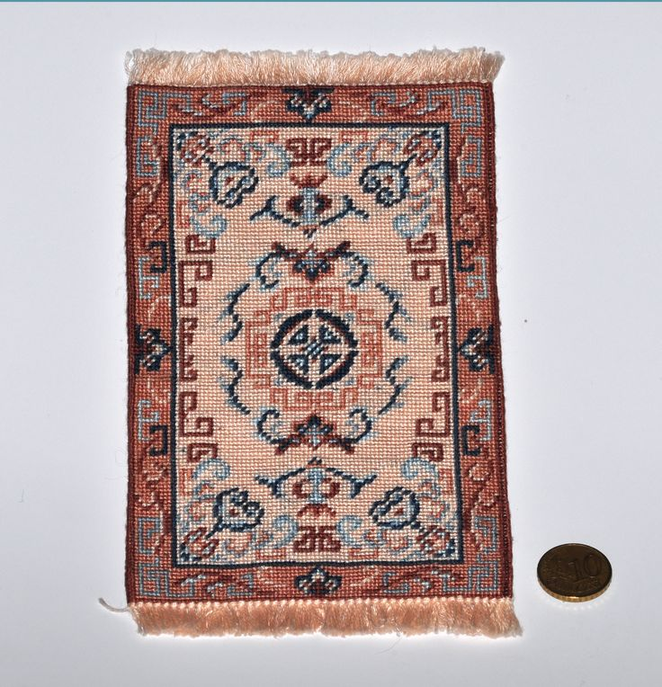 Needlepoint Miniature Oriental Rug From Janet Granger