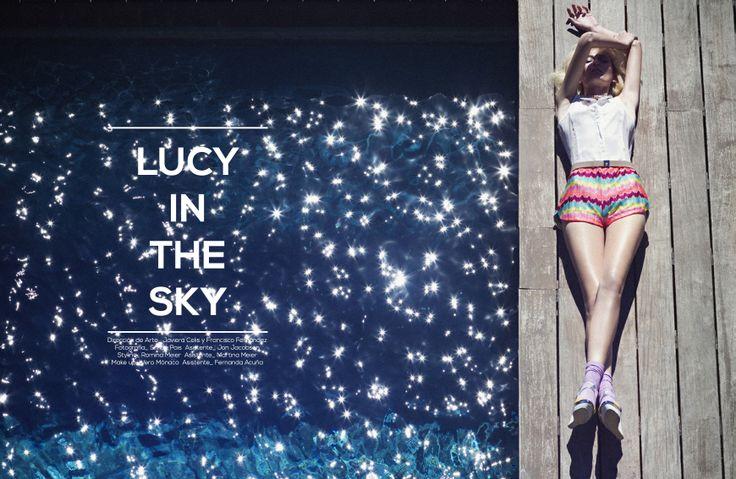 LUCY IN THE SKY - 1 Dirección de Arte_  Javiera Celis / Pancho Fernández   Fotografía_ Simón Pais Styling_ Romina Meier Make up_ Vero Mónaco