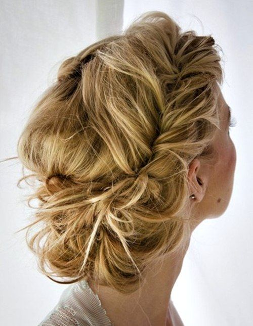 Updo for long hair with braids