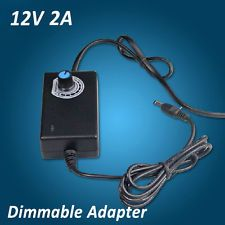 AC 100-240V to DC 12V 2A Dimmable Adapter Power Supply For LED Strip Light