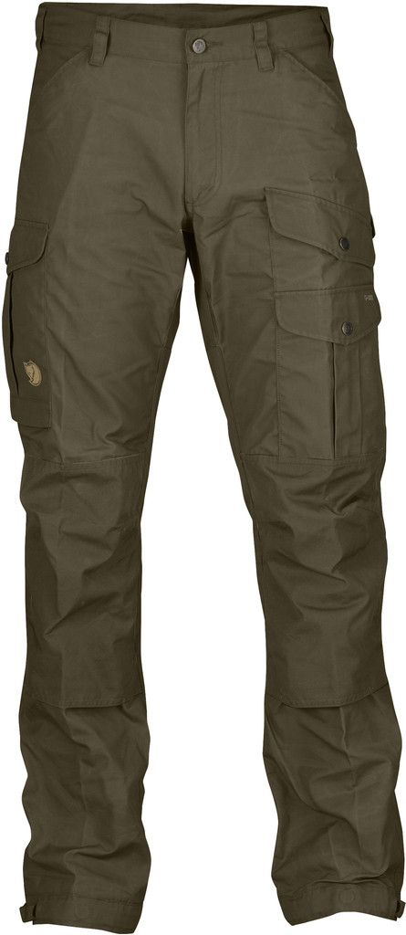 Hiking Pants Sizes and Details Sizes: 44-60 R-44-60 L Fit/Waist: Regular Fit/Mid Waist Material Fabrics: G-1000. Original: 65% polyester, 35% cotton Features - Hardwearing trousers in G-1000. - Mid wa