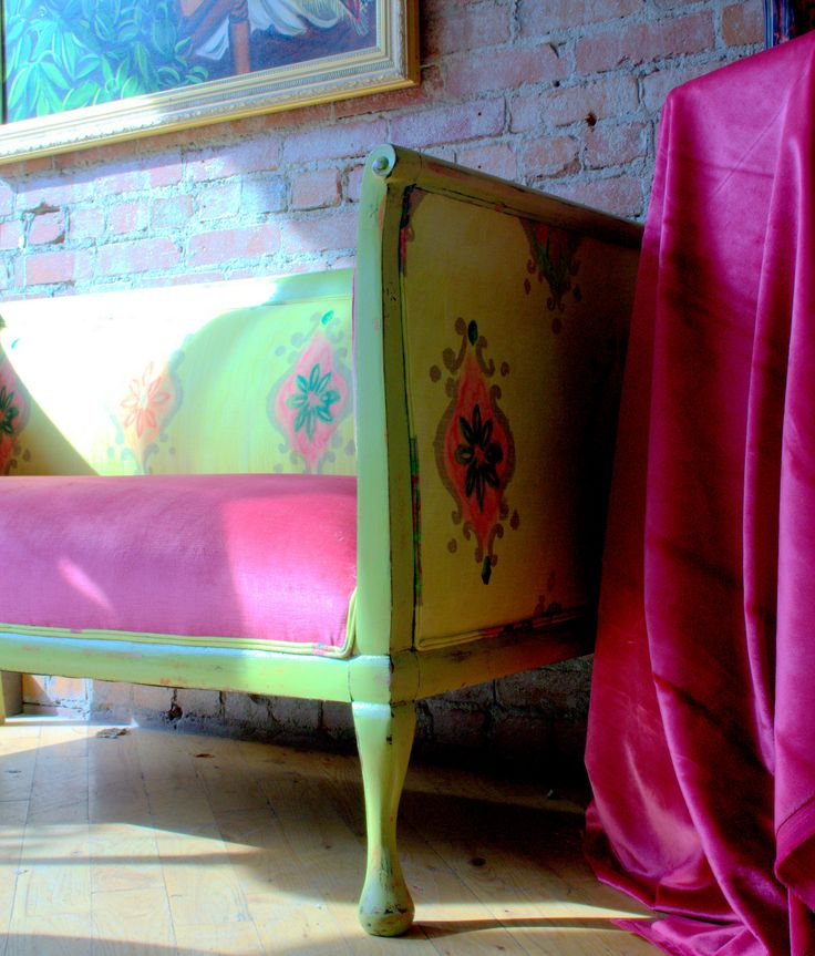 Custom Made Vintage 1880 S Settee In Designers Guild
