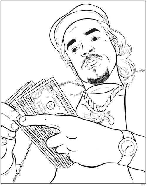 Rap coloring book an interview with creators bun b shea for Rapper coloring pages