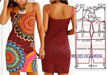 Hoje vou abordar o passo a passo do molde de um vestido desigual primavera 2017. As medidas facilitam a modelagem aí em casa. A ilustração do molde de...