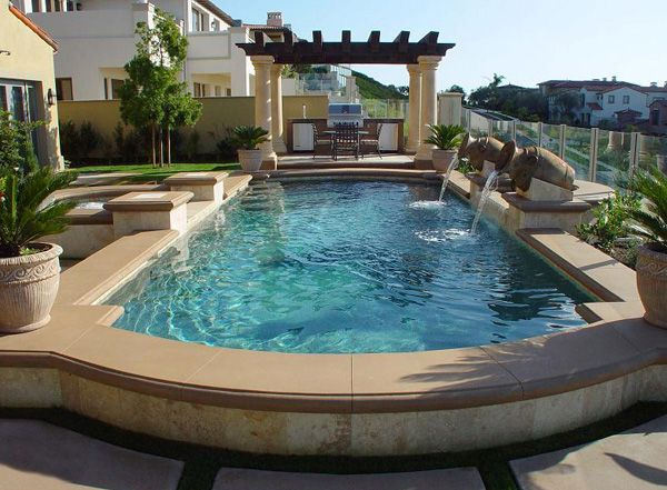 The 25 best raised pools ideas on pinterest small pools for Raised pool designs