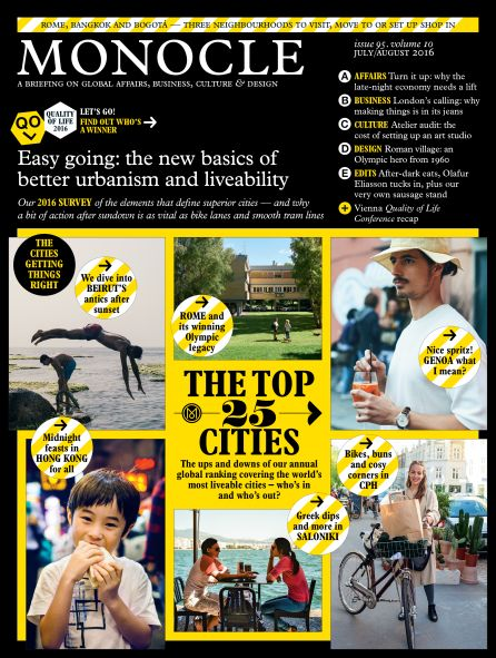 TOP 25 LIVEABLE CITIES