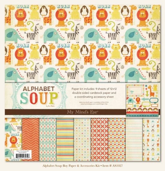9 sheets of 12x12 coordinating cardstock paper and one accessory sheet  Love these retro looking animal prints!