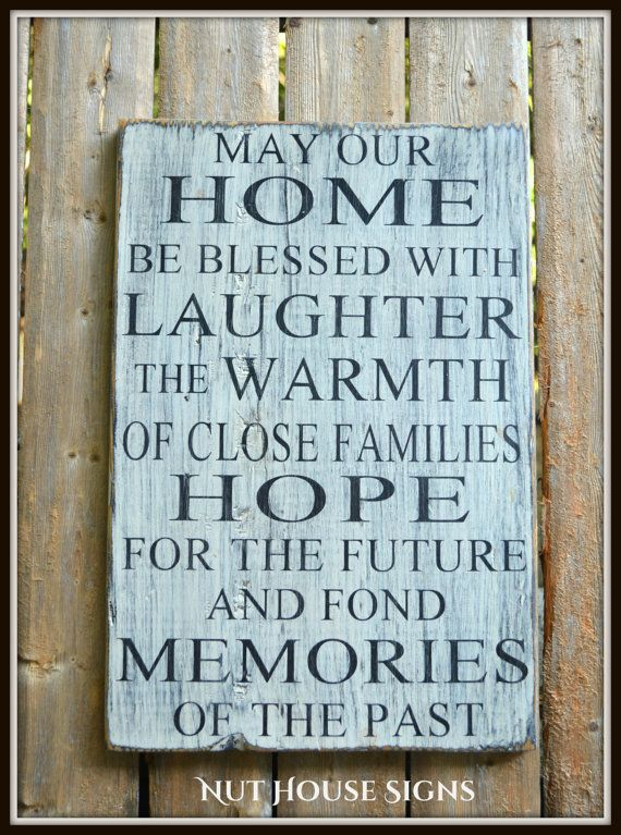 Rustic Wood Sign Blessings Wooden Quotes Home Dcor Wall Art Hand