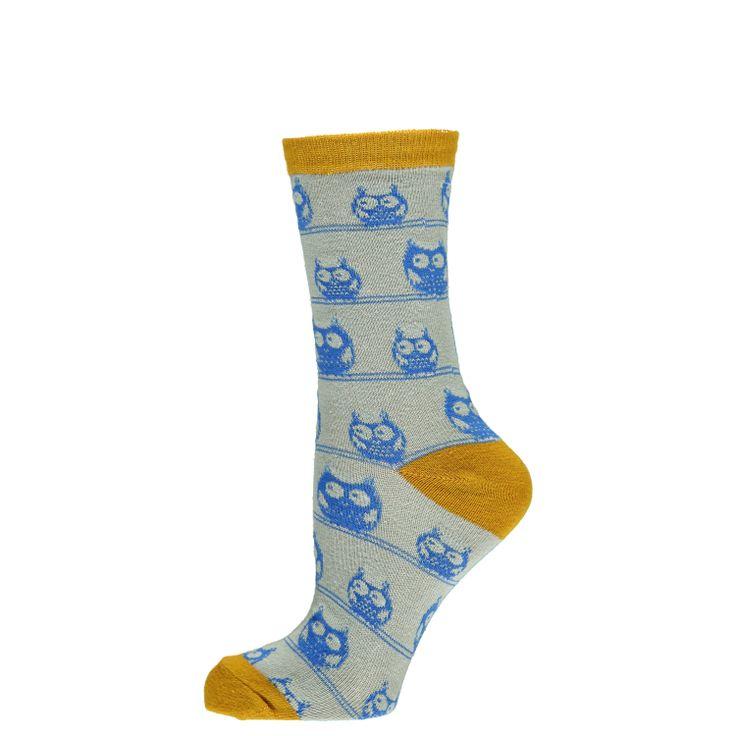 Katoenen uil motief sokken