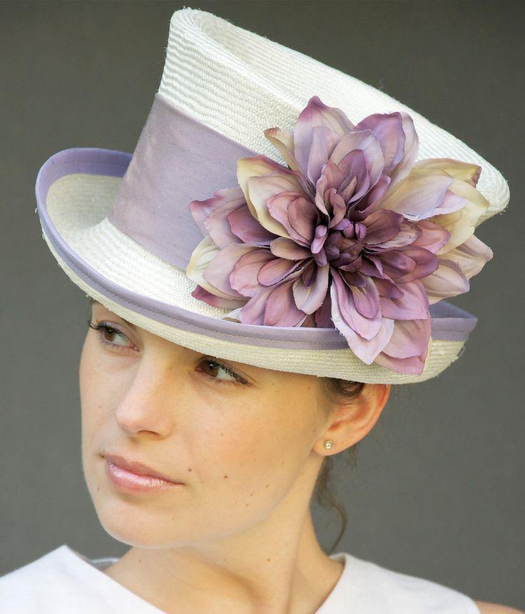 Cream Straw Victorian English Riding Hat Wedding by AwardDesign