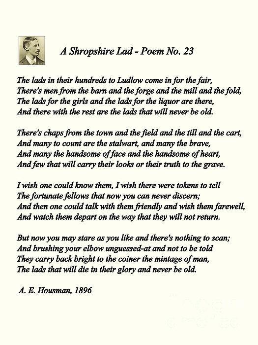 The poetry of a e housman essay