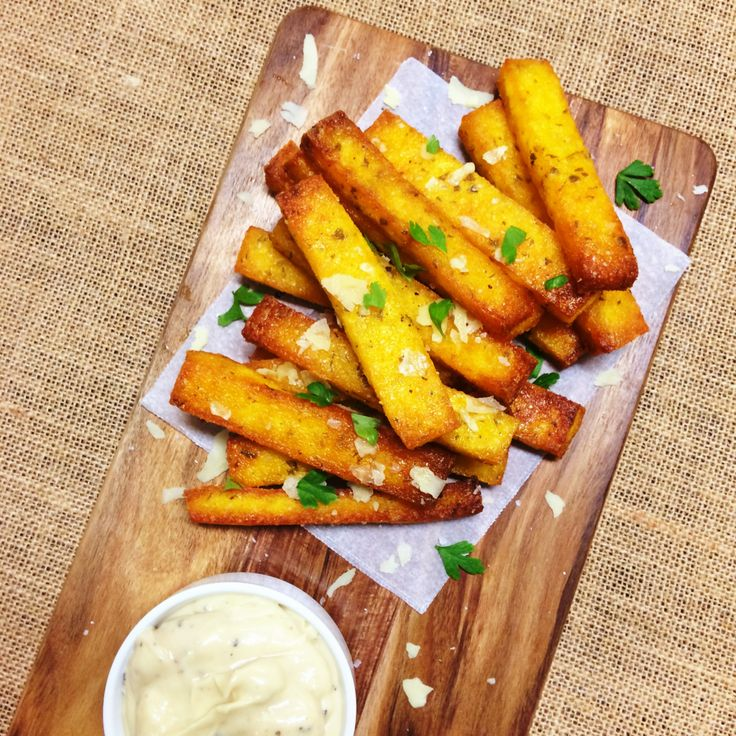 Parmesan and Parsley Polenta Chips - Shine Dining