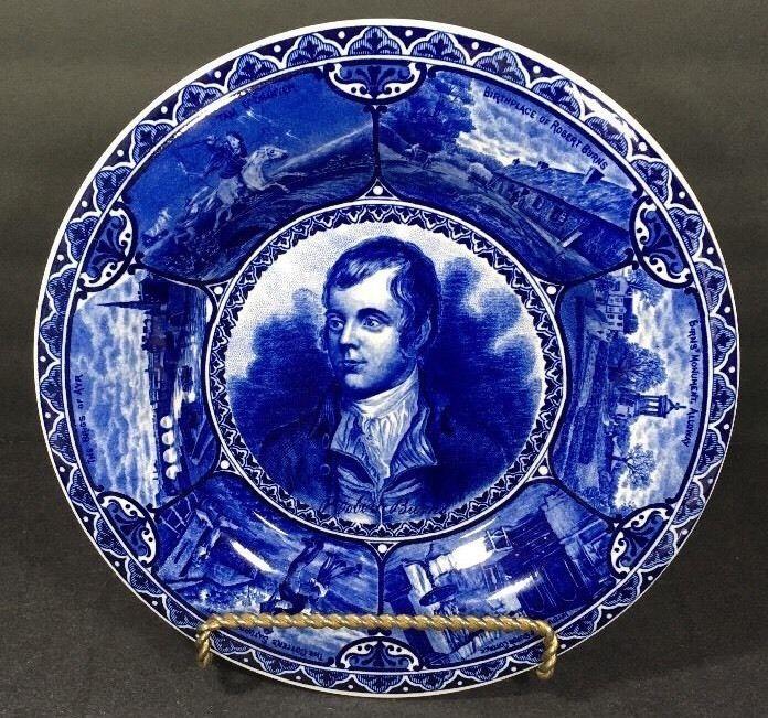 "Rowland Marsellus Flow Blue Robert Burns Plate England Vtg Historical 10""  | eBay"