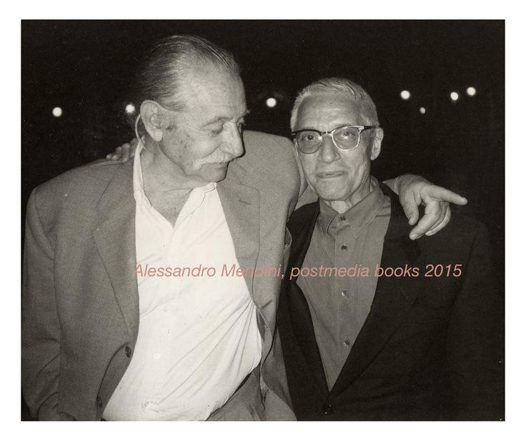 Alessandro Mendini, Ettore Sottsass. Venezia 1993 Foto Johanna Grawunder