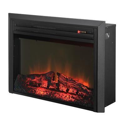 Muskoka Muskoka 27 Inch Electric Firebox Insert With Logs And Trim Mfb25wstbl 2 Home Depot