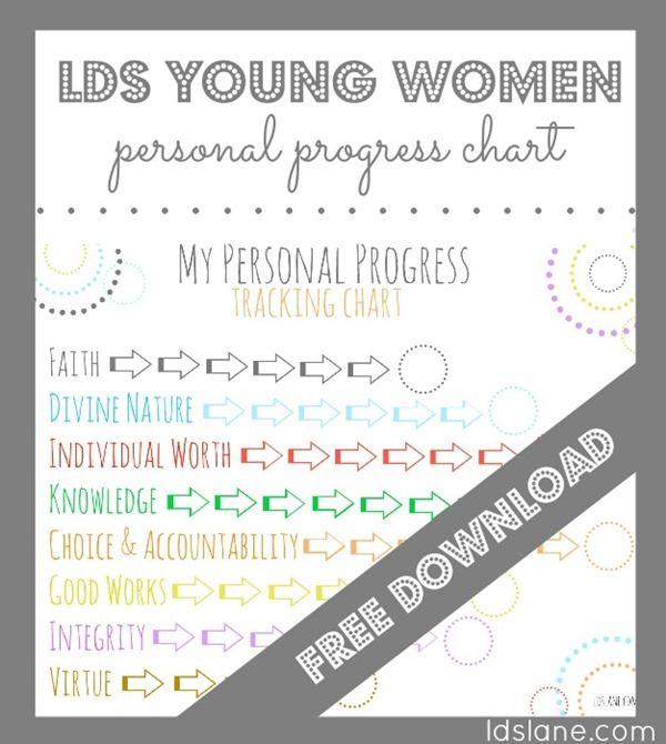 LDS Personal Progress Chart Free Download at ldslane.net