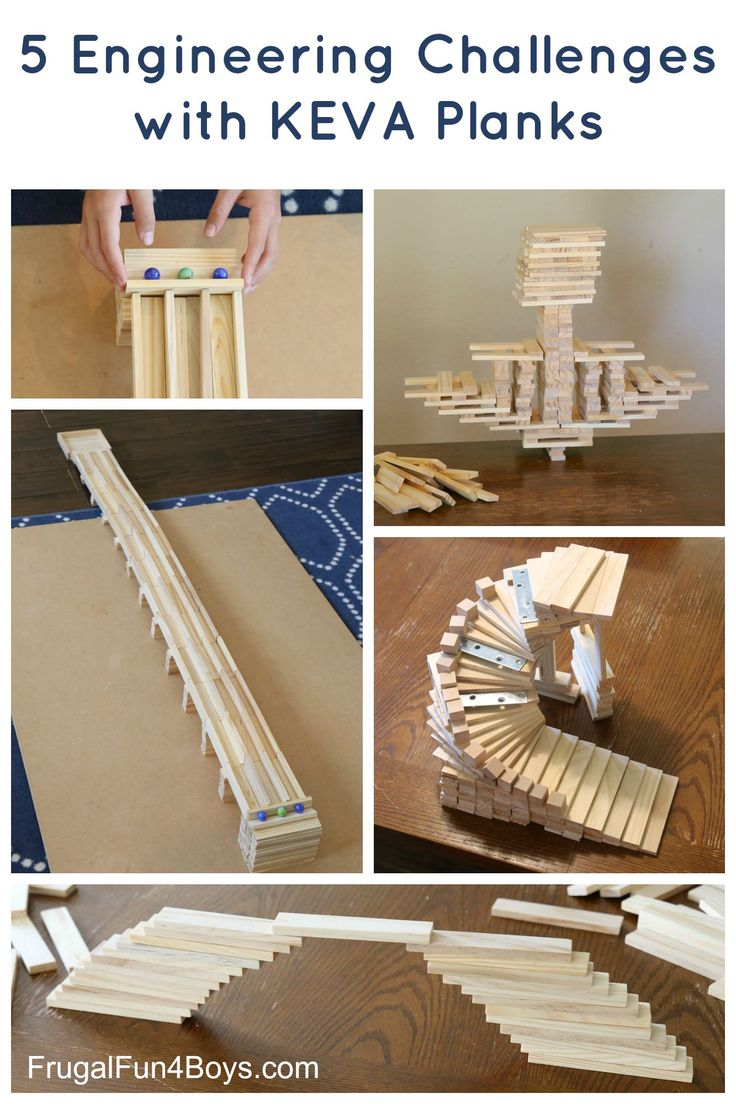 Fun STEM Activity for Kids: Five Engineering Challenges with KEVA Planks. KEVA Planks are simple wooden building blocks that are so versatile and appeal to just about any age.
